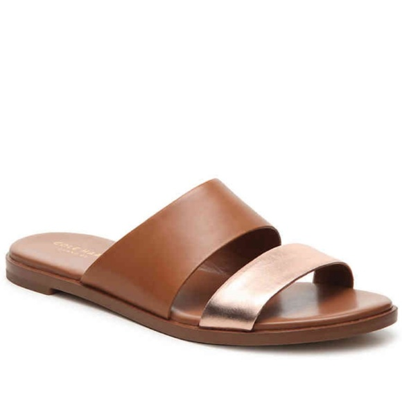 c7405d38f2ed Cole Haan Shoes - Cole Haan Anica Leather Slide Flat Sandal